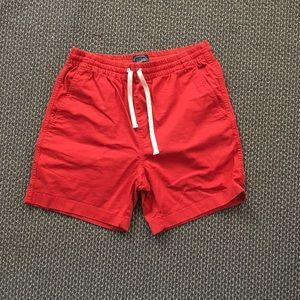 J Crew Dock Shorts - Red - Men's Small